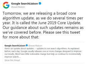 SEO Google Update Broad Core